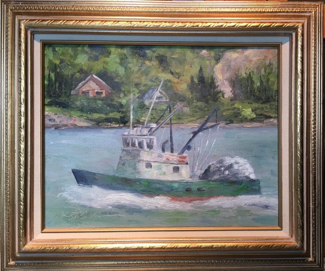 Uncle Pete's Trawler, Original by Rob Anderson - Beach Style