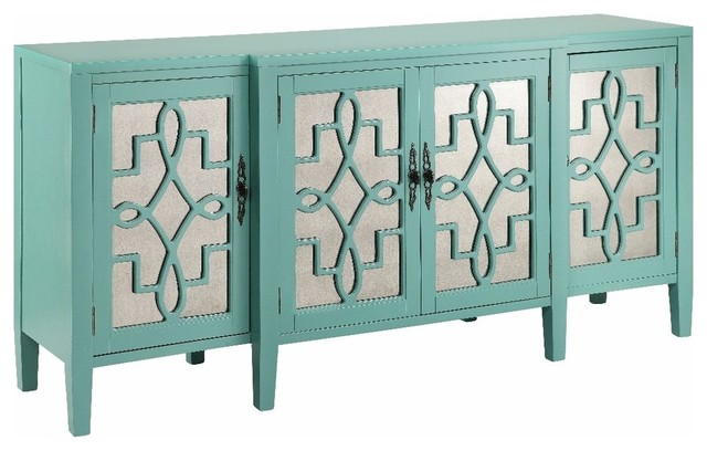Stein World 13151 Lawrence Cabinet In Turquoise.