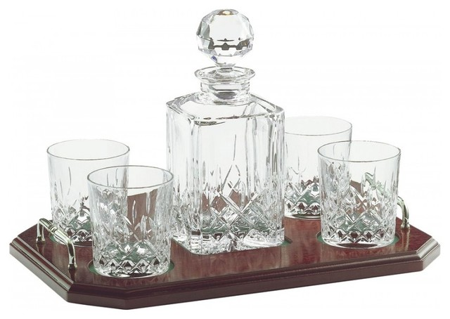 Longofd Square Decanter Tray Set