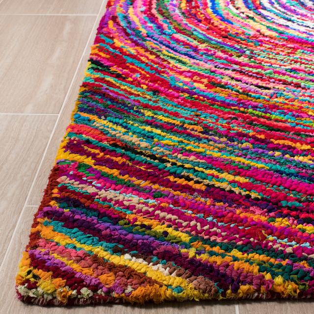Safavieh Marlon Textured Rug, Multicolored, 6&x27;x6&x27; Round.
