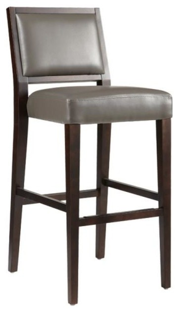 Pluto Leather Stool Transitional Bar Stools And