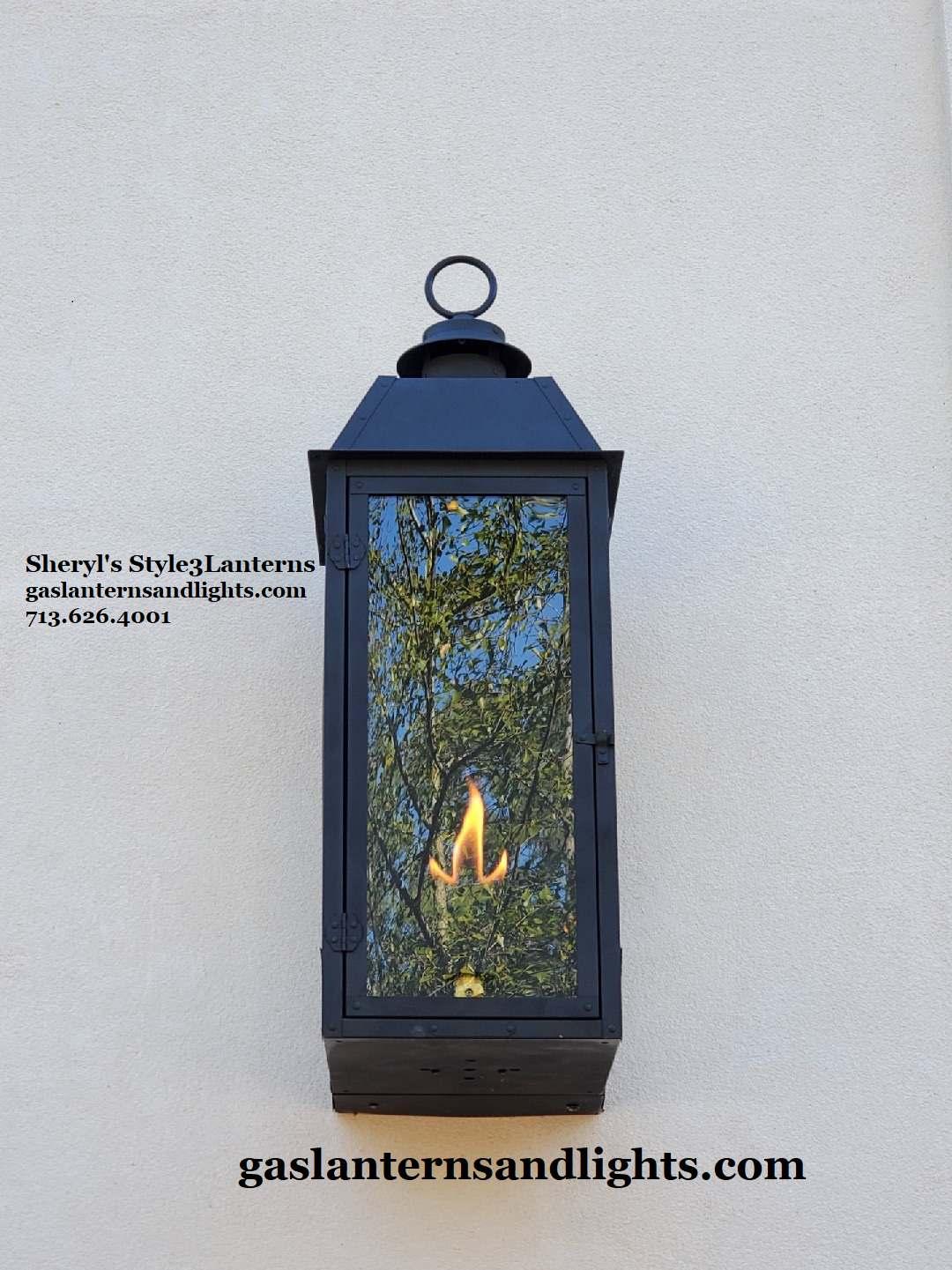Sheryl's Style 3 Transitional Flush Mount Gas Lanterns