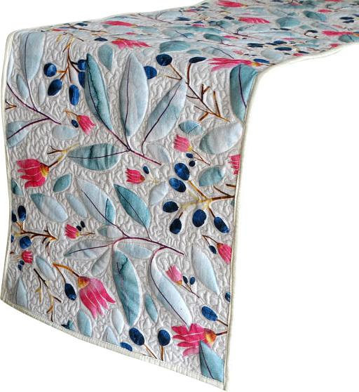 Decorative Table Runners; White, Light Blue, Dark Blue, Pink; 14x36 inch; Cotton