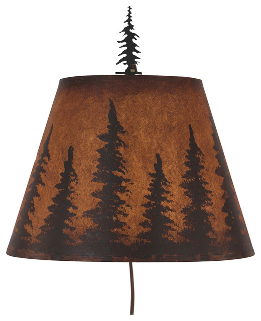 Iron Wall Sconce With Pine Tree Rustic Wall Sconces Part 56