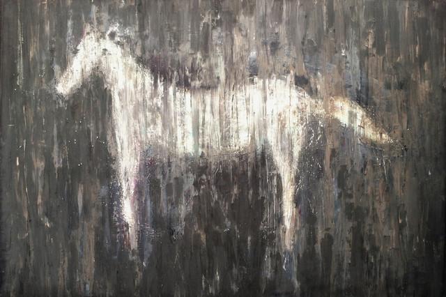 Horse Art Large Earth Tone Wall