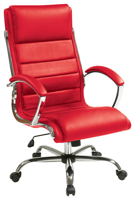 work smart executive chair red contemporary office