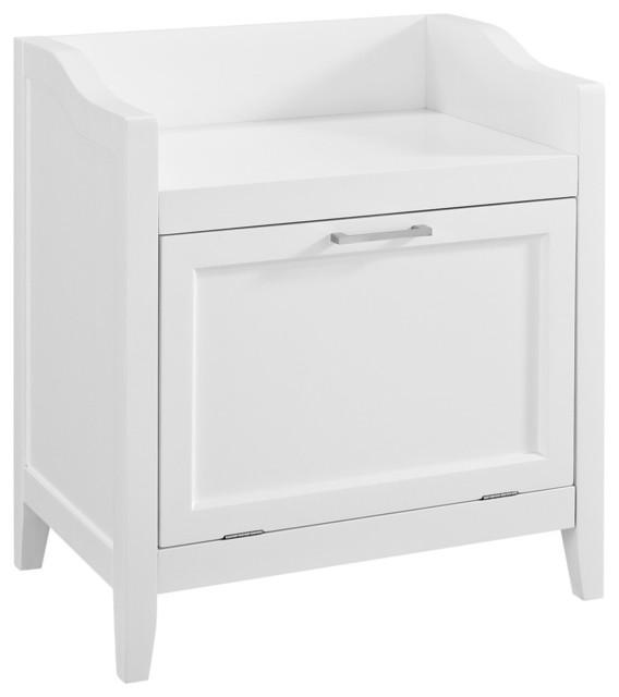 Avington Storage Hamper Bench Transitional Bathroom Cabinets And Shelves