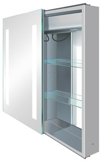 LED Medicine Cabinet Left Sliding Mirror Door With Defogger and Dimmer, 20