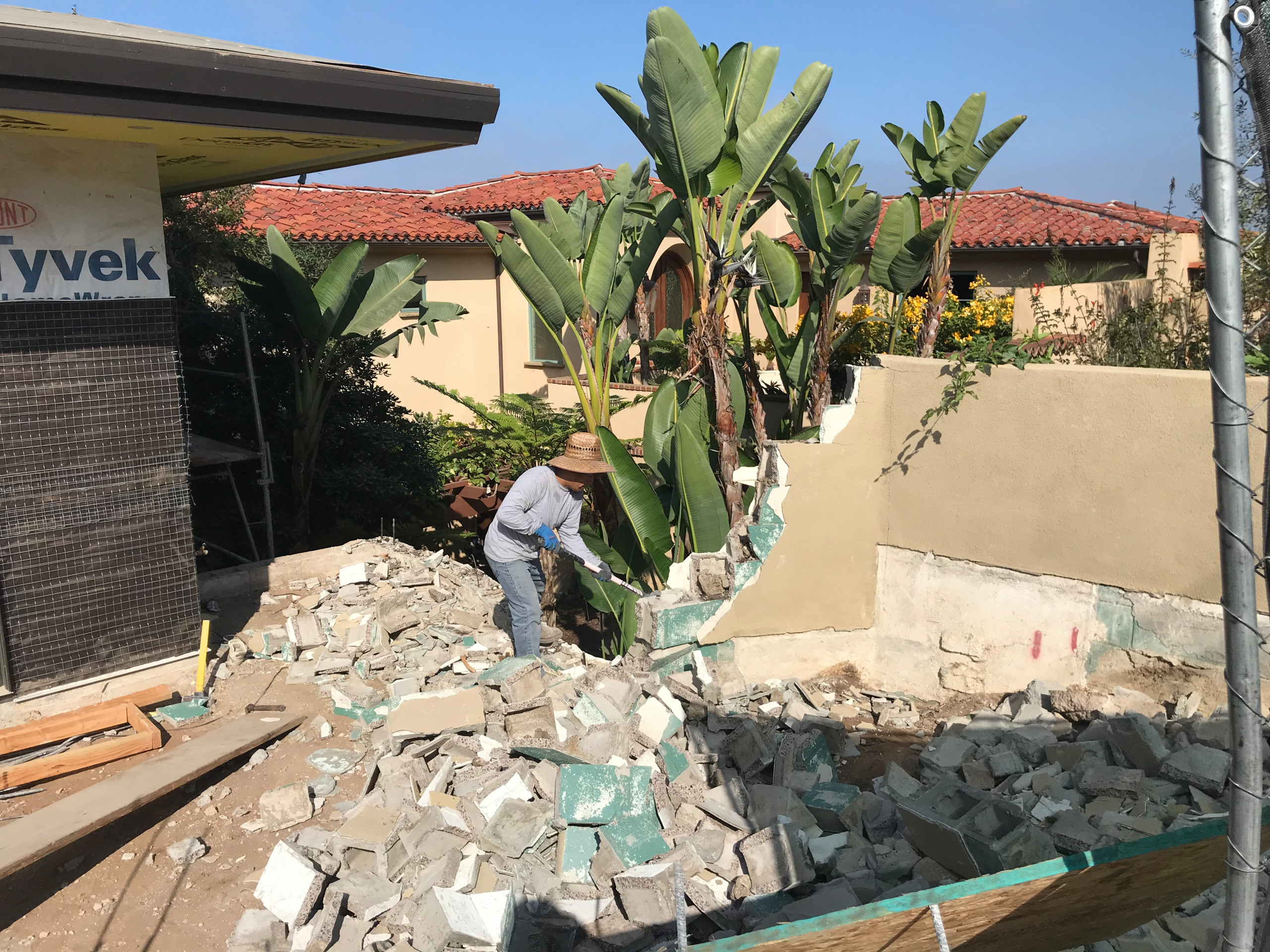 Removing an Old Block Wall