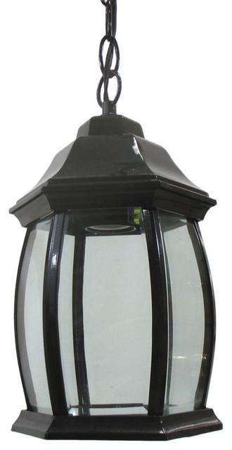 Black Cast Aluminum Hanging Exterior Light Fixture
