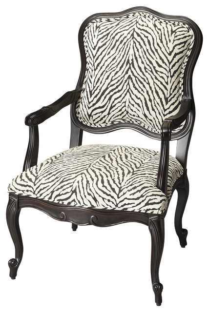 Zebra Pattern Jacquard Accent Chair Armchairs And Accent