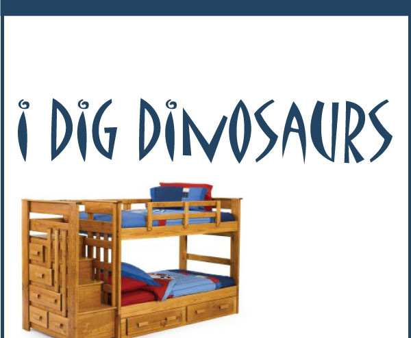 I Dig Dinosaurs Vinyl Wall Decal Boysbedroom05, Red, 6 In..