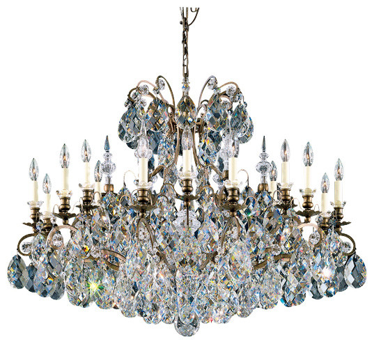 schonbek lighting renaissance heirloom bronze 19 light chandelier - Schonbek Lighting