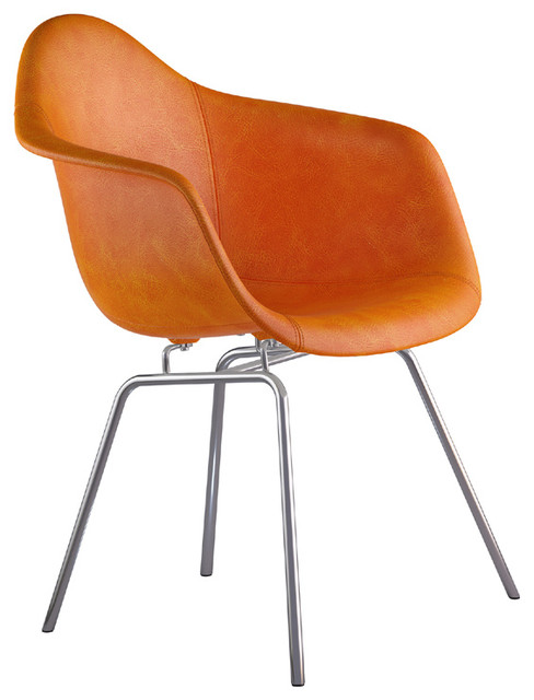 Duo Co Midcentury Arm Chair Stainless Legs Leather Seat Armchairs And Acce