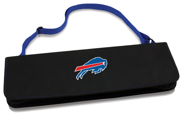 Buffalo Bills Metro Bbq Tote & Tools Set, Blue.