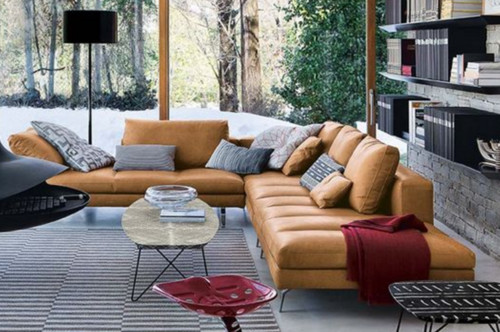Looking For A Long Sectional Or Sofa In A Tan/cognac/camel Leather