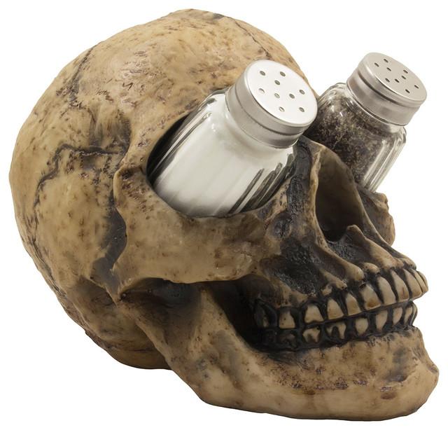 Decorative Human Skull Glass Salt And Pepper Shaker 3