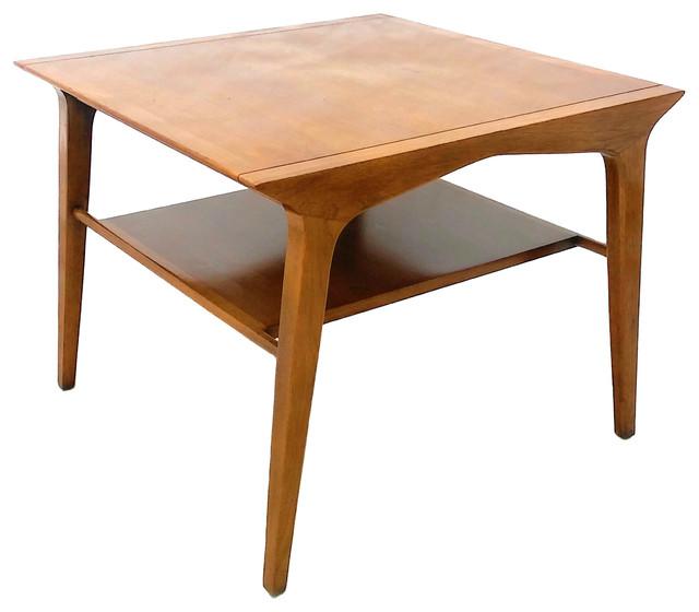 Consigned Drexel Profile Corner Table By John Van Koert