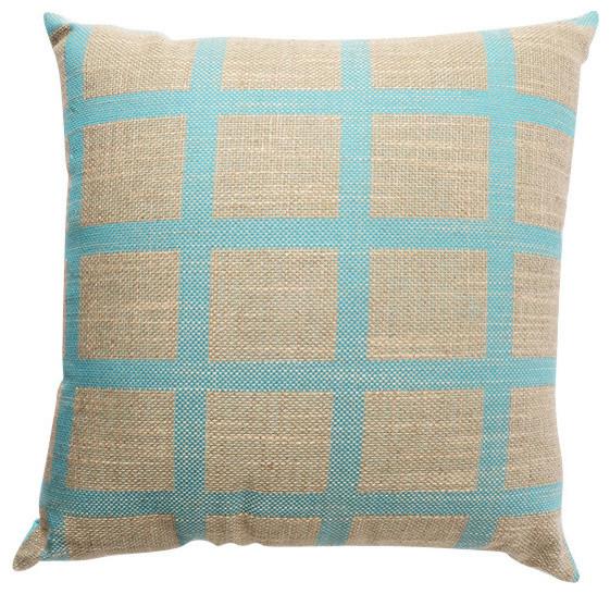 Linen Check Throw Pillow - Farmhouse - Decorative Pillows - by Bungalo