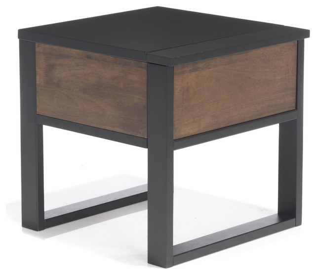 Spirit table de chevet 1 tiroir industrial nightstands and bedside tables - Tiroir table escamotable ...