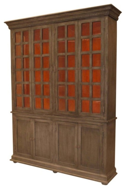 8-Door Cabinet With Hutch And Base, Warm - Contemporary - China Cabinets And Hutches - by Meva