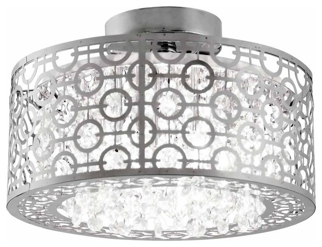 Dvi Lighting Dvp5833 Eclipse 3 Light Semi Flush Ceiling Fixture.