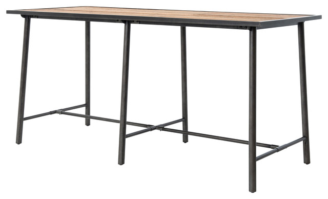 Beetaloo black iron bar table industrial indoor pub - Table bar industriel ...