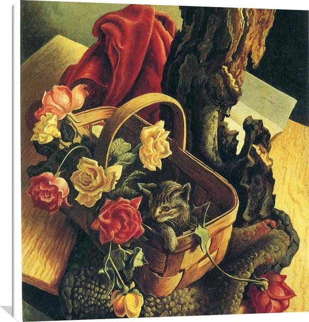 Thomas Hart Benton Art Oil Painting Print On Canvas Home Decor The Flowers