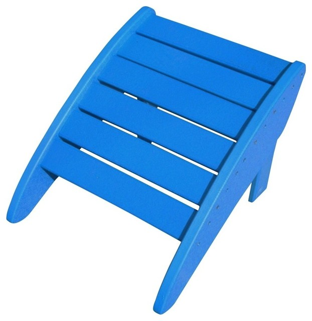 Swell Phat Tommy Recycled Poly Folding Ottoman Marina Blue Ibusinesslaw Wood Chair Design Ideas Ibusinesslaworg