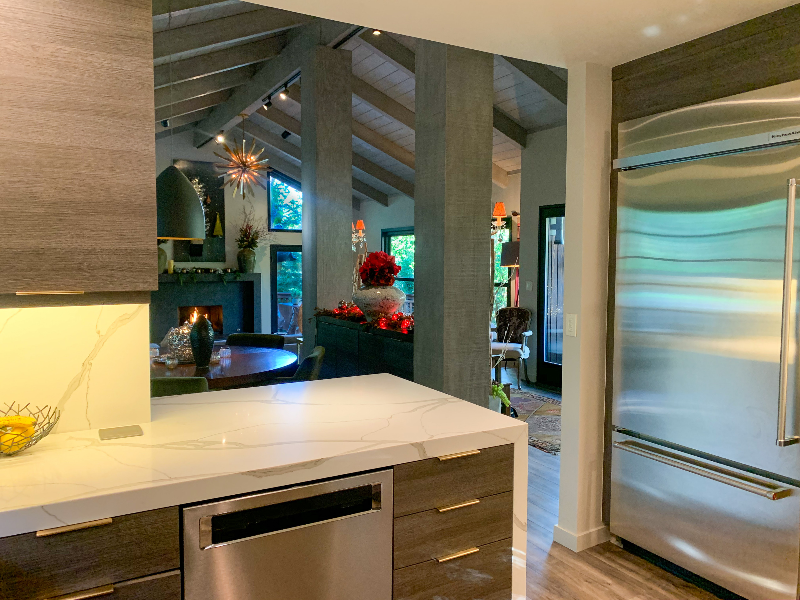 Contemporary Treehouse Kitchen