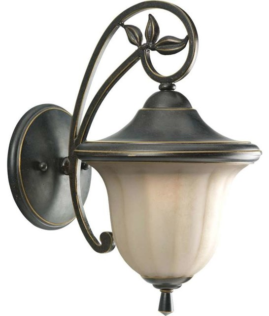 Jardin Wall Lights : Progress Lighting P5743-84 Le Jardin 1 Light Outdoor Wall Light In Espresso - Traditional ...