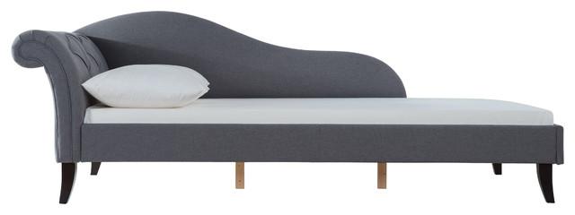 Sadie Upholstered Sofa Bed, Steeple Gray.