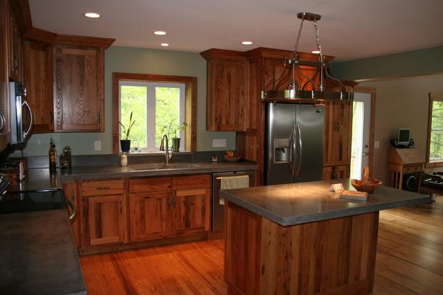 Antique Chestnut Cabinets Traditional Kitchen