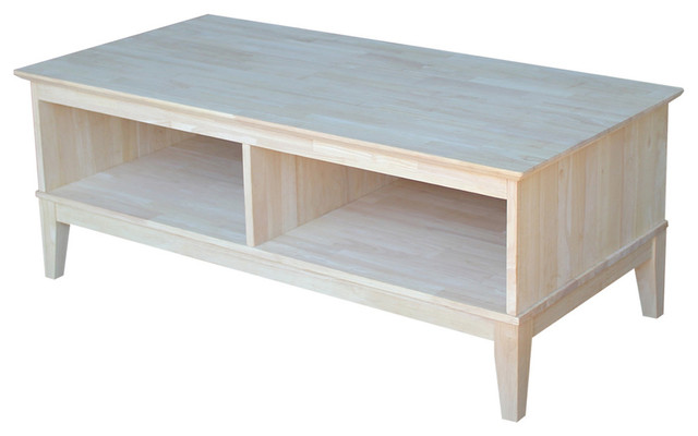 Shaker Coffee Table With Divider.