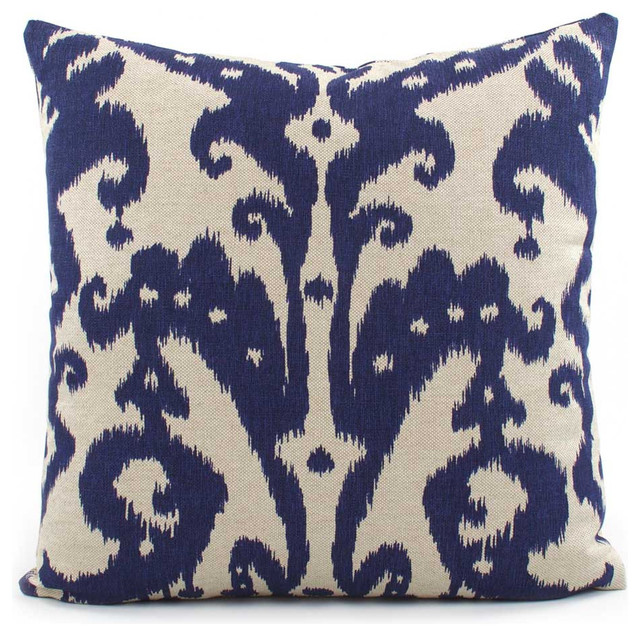 Decorative Down Pillows : Marrakesh Batik Throw Pillow - Decorative Pillows - by Chloe and Olive LLC