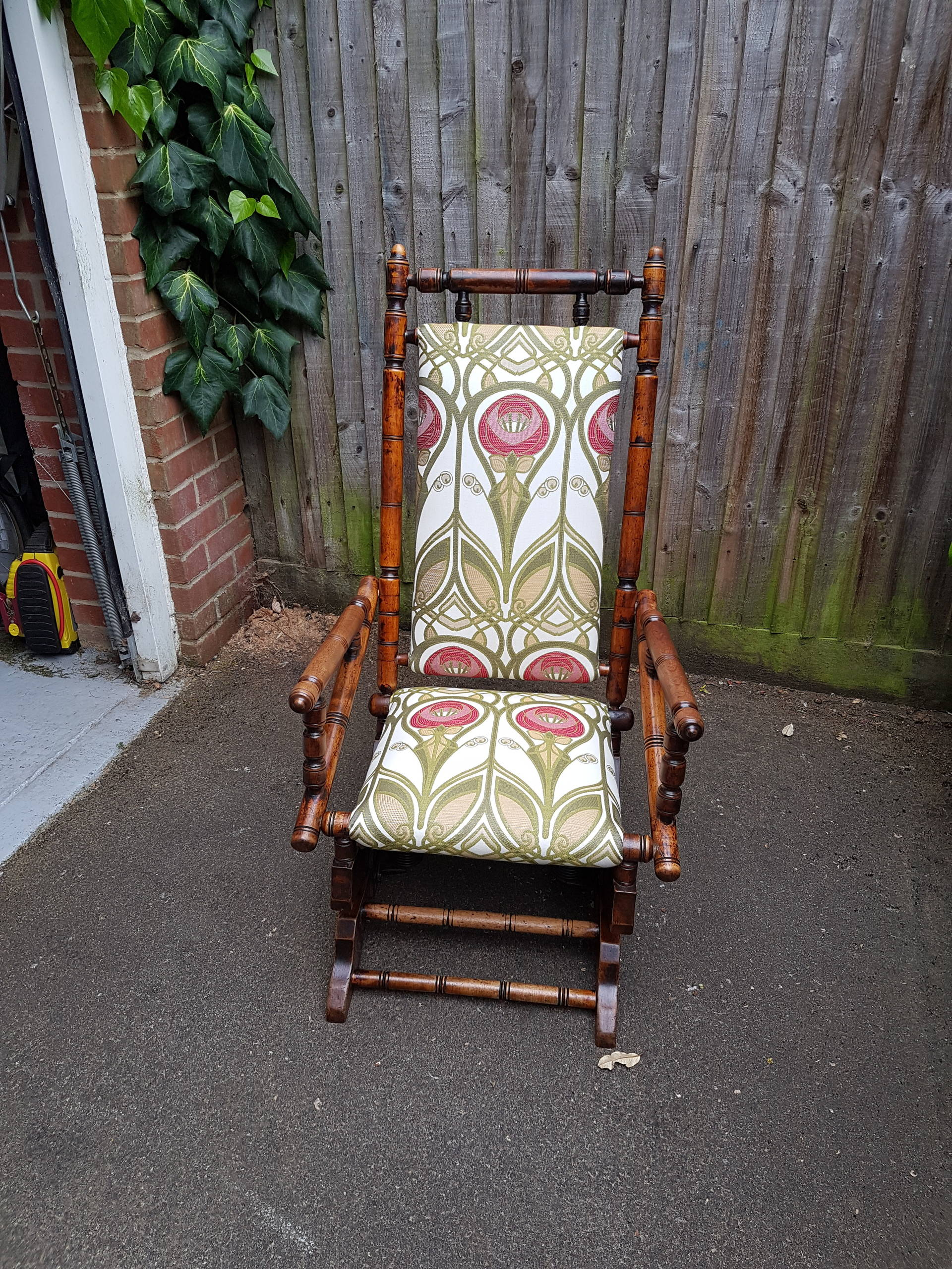 Victorian rocking chair restoration and reupholster