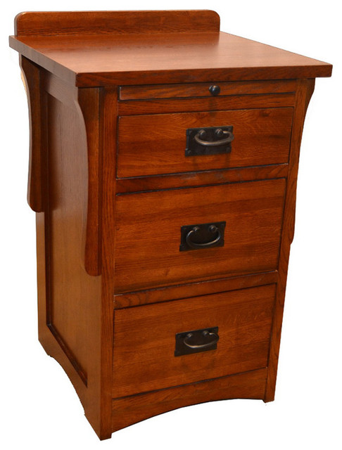 Mission 3 Drawer End Table