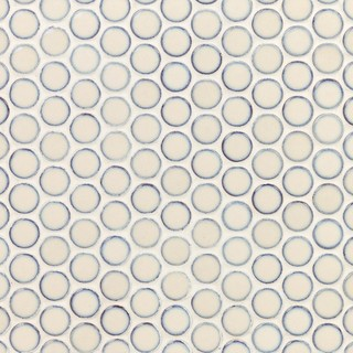 Sheet Bliss Edged Penny Round Gray 12 x 12 Polished Ceramic Mosaic Sheet Tile 1 Sheet Covers 1 sq. ft.