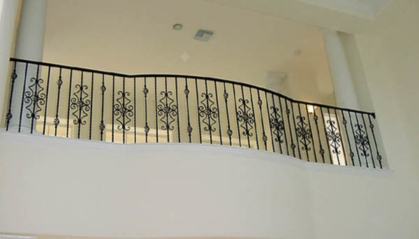 Orlando Wrought Iron Balcony Railing: Interior Wrought Iron Curved Balcony Rail
