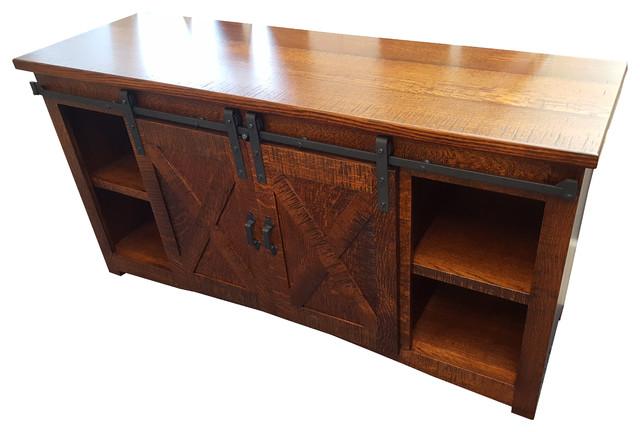 Walnut Creek Furniture - Sliding Barn Door TV Stand - View in Your Room! | Houzz