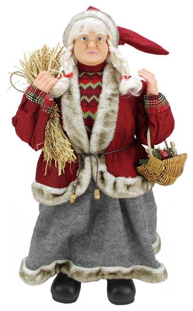 Northlight seasonal country mrs santa claus with hay