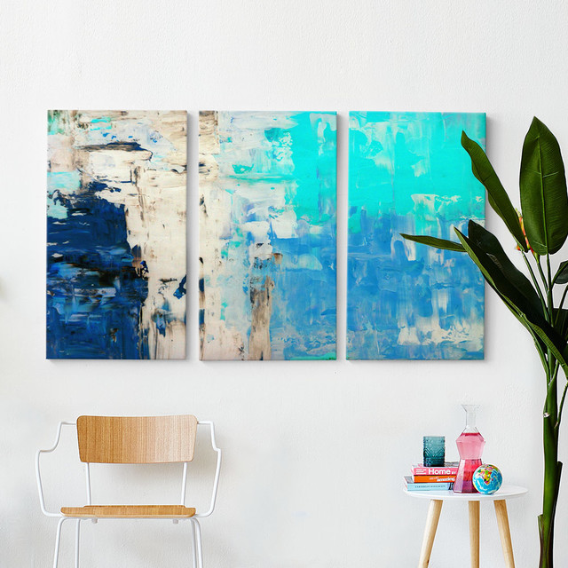 Blues Triptych Wall Art