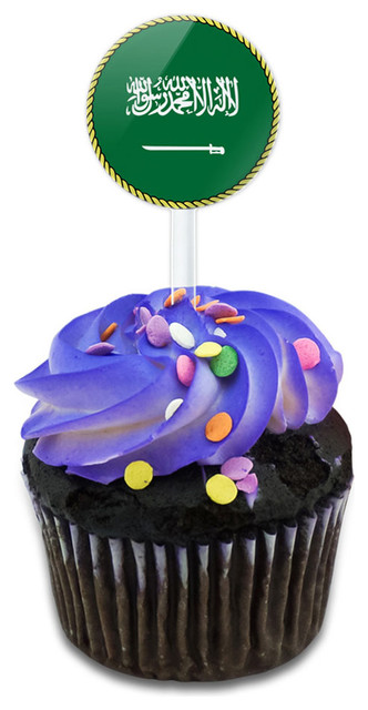 Flag Of Saudi Arabia Cupcake Toppers Picks Set.