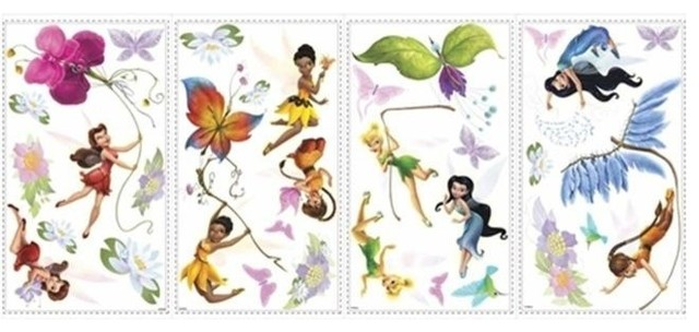 Roommate RMK1493SCS Disney Fairies Wall Decals With