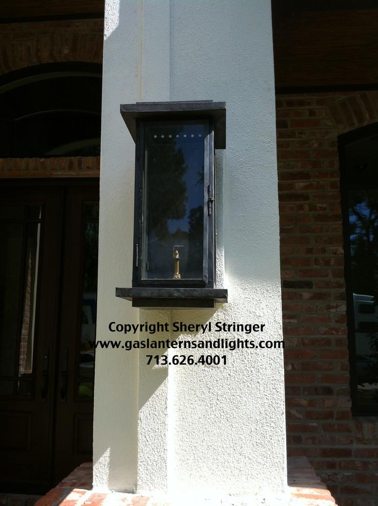 Sheryl's Zen Transitional Gas Light, Modern Gas Lanterns