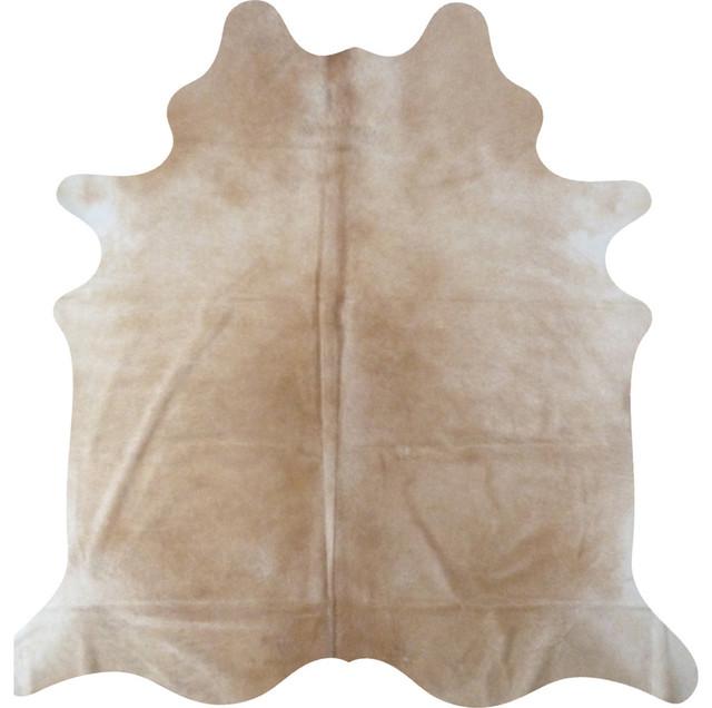 Decohides Cowhide Rug Cream Beige Contemporary
