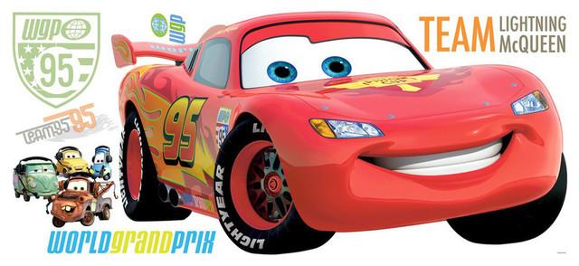 Roommates Rmk1518Gm Disney Pixar Cars Lightning Mcqueen Peel /& Stick Giant Wall