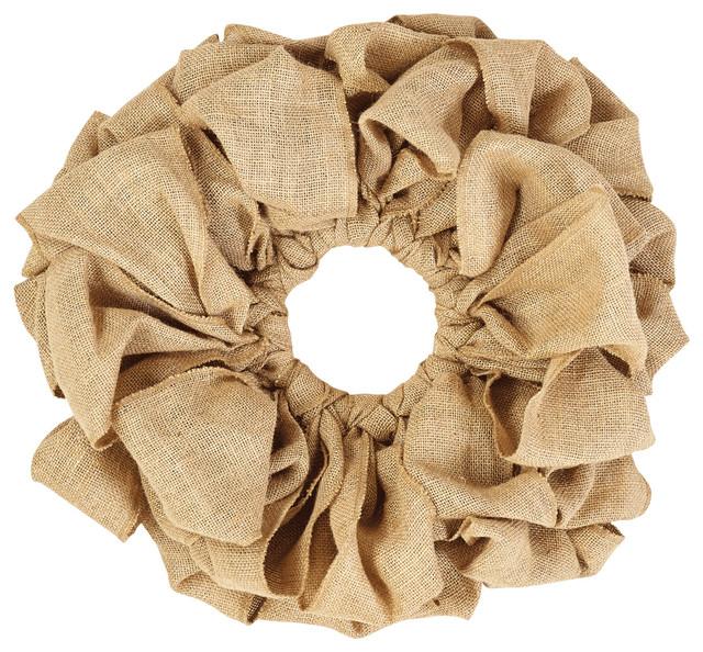 Burlap Natural Wreath, 15.