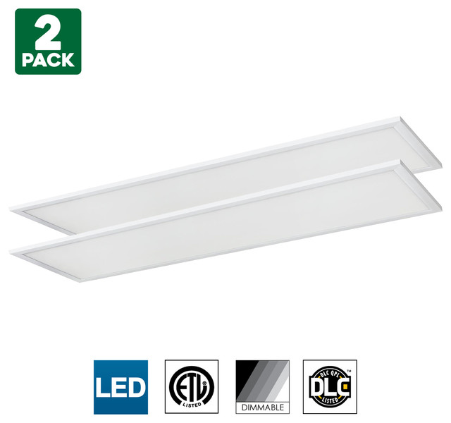 Strange Sunlite Led Light Panel 1X4 Foot 40W 4000K Cool White Dimmable 2 Pack Download Free Architecture Designs Scobabritishbridgeorg