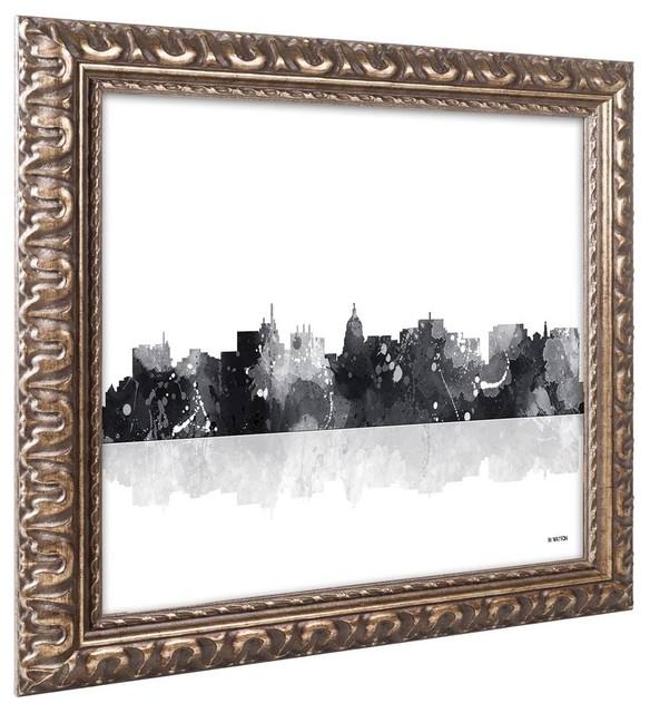 Quot Madison Wisconsin Skyline Bg 1 Quot Ornate Framed Art 20 Quot X14